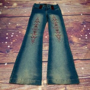 Virgin Only Embellished Wide Leg Jeans Size L